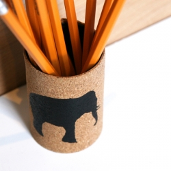 Cork Covered Pencil Cup Tutorial
