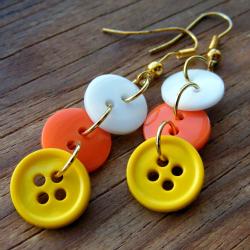 Candy Corn Inspired Earrings