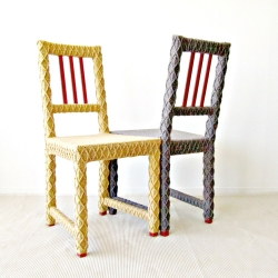 Yarn Bombed Chairs