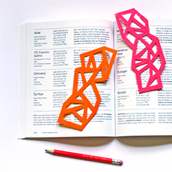 DIY Geometric Felt Bookmarks