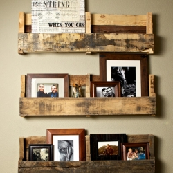 Recycled Hand Made Pallet Shelves