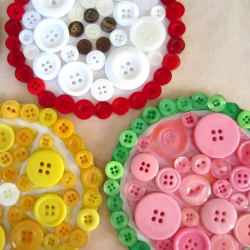 Fruity Button Coasters