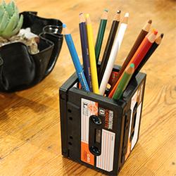 Upcycled Casette Tape Pencil Holder