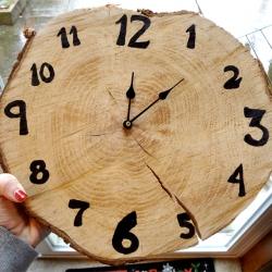 """Wood """"Cookie"""" Clock"""