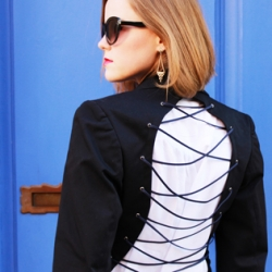 DIY Lace up Blazer