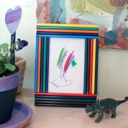 colored pencil picture frames