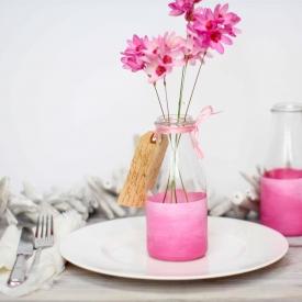 DIY Painted bottle vases