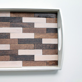Multi-Color Wood Tray
