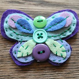 Felt and Button Butterflies