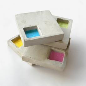 Cement Geo Coasters