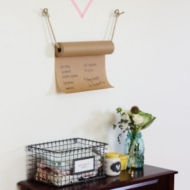 DIY Kraft Paper Grocery List
