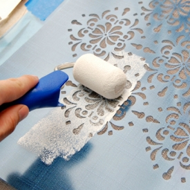 Easy Painted Curtain Tutorial