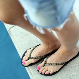 DIY Studded Flip-Flops