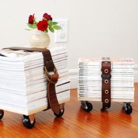 Upcycled Magazine Stool