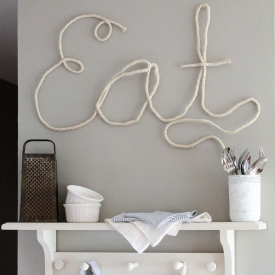 How to Make Rope Letters