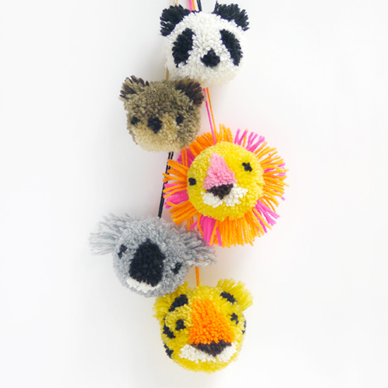 DIY Animal Pompoms Tutorial