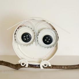Bottle Cap Snow Owl