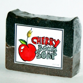 DIY Cherry Bomb Soap with Labels