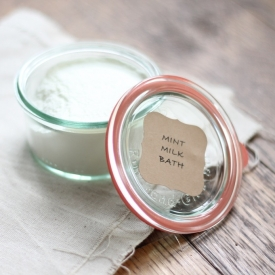 Homemade Milk Bath Gift