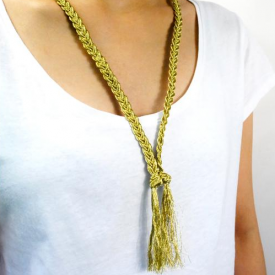 Gold Necklace for T-shirt Lover