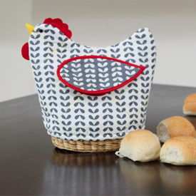 DIY Quilted Bread Basket Cover