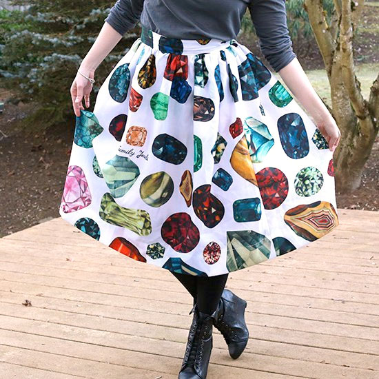 DIY a Skirt from a Shower Curtain