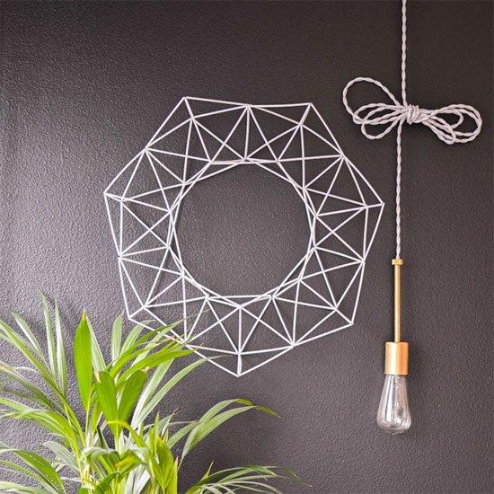 DIY Geometric Wreath Tutorial