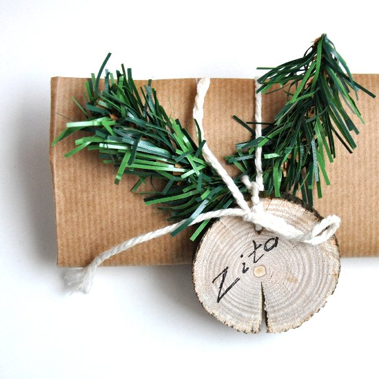 Wood Slice Gift Tags