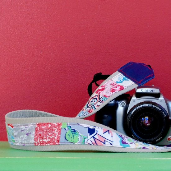 DIY Patched Camera Strap