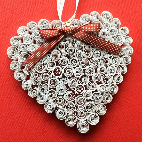 Quilled Paper Ornaments Quilling Heart Ornament