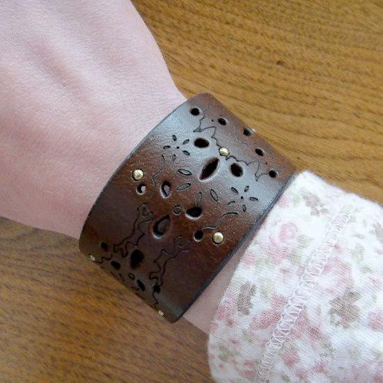 DIY Leather Cuff