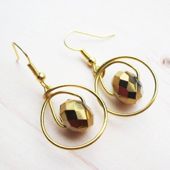 Gold Earrings DIY
