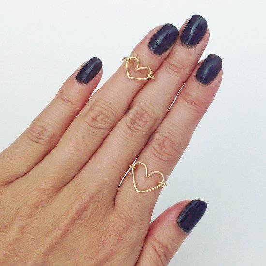 DIY Dainty Wire Heart Ring