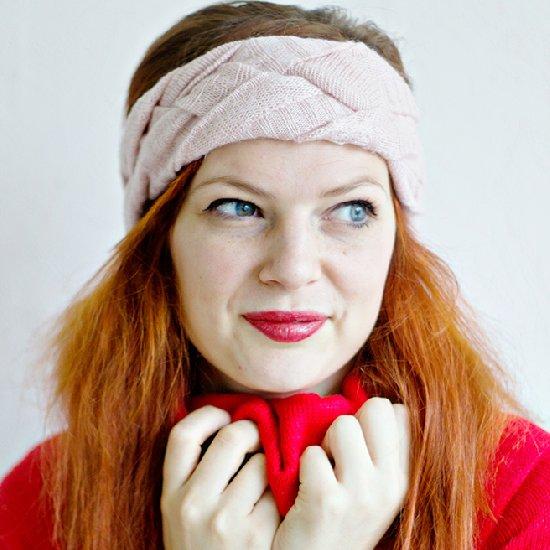 Sweater into Braided Headband