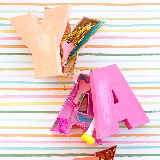 DIY Letter Shaped Boxes