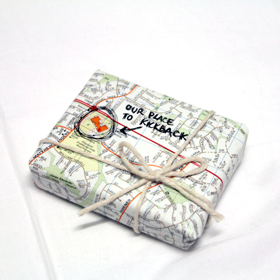 DIY: Mapped Memories Gift Wrapping