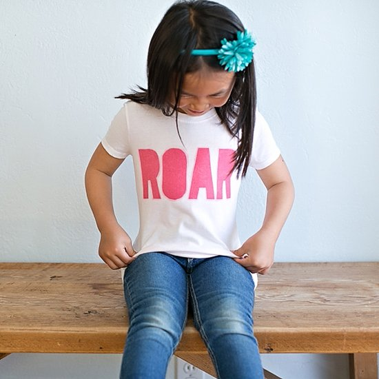 """DIY Screen Printed """"ROAR"""" Shirt"""