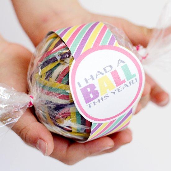 Rubber Band Ball Teacher Gift