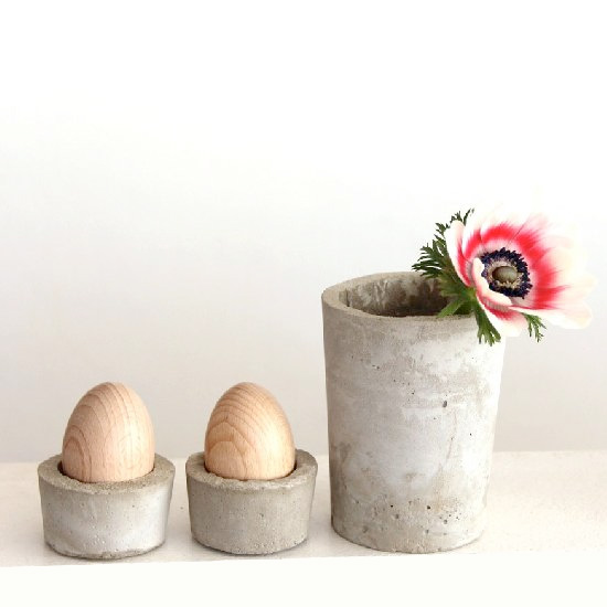 DIY Concrete Egg Cups for Easter