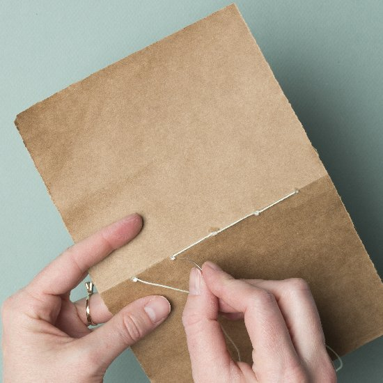Make a Notebook from a Grocery Bag