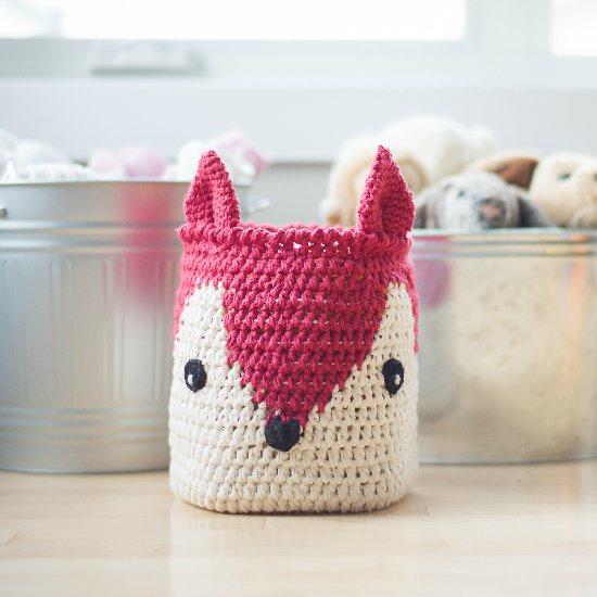 Crochet Fox Basket/Pillow