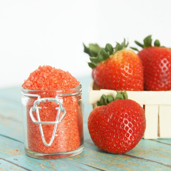 DIY Strawberry Bath Soak