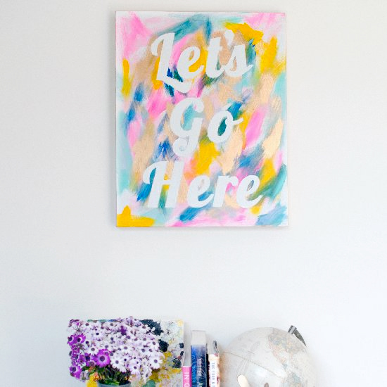 Pretty Painted Wall Art