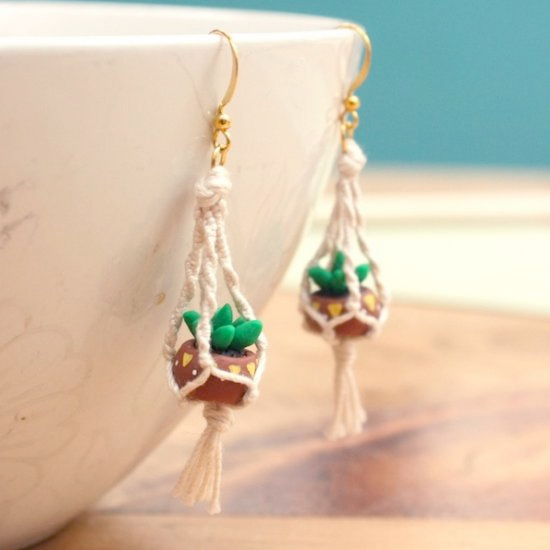 Hanging Planter Earrings