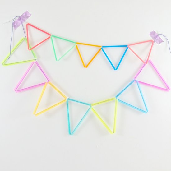 Colorful Straw Bunting