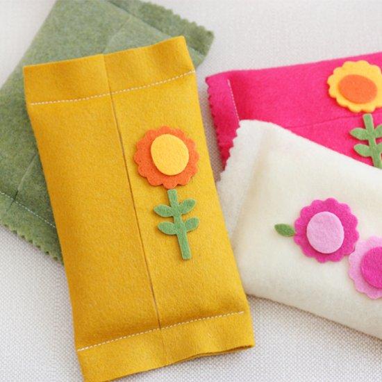 DIY Felt Tissue Holders