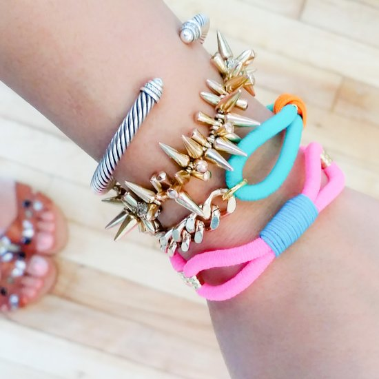 DIY Summer Neon Bracelets