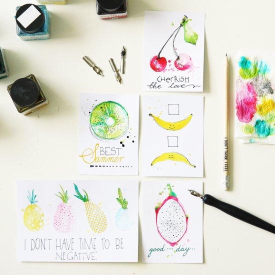 Juicy Fruits Freebie Journal Cards