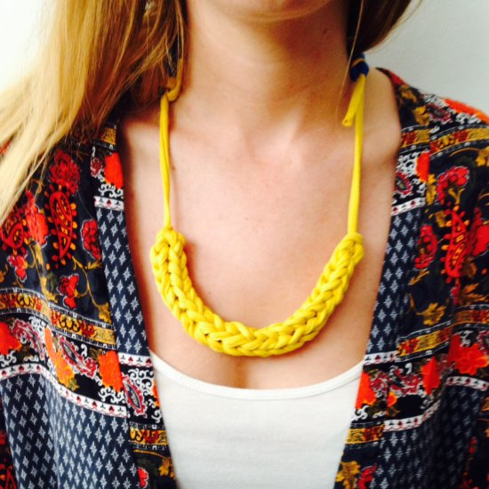 DIY Crochet Cord Necklace