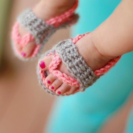 Baby Flip-Flops Crochet Pattern